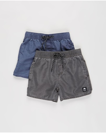 St Goliath - 2-Pack Illusion Elastic Waist Shorts - Kids