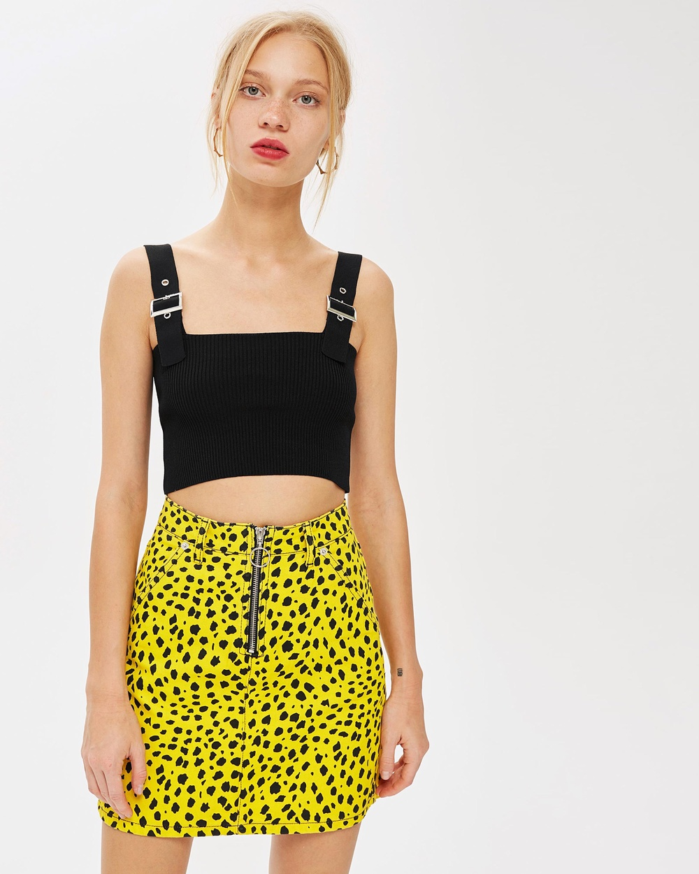 TOPSHOP Buckle Strap Top Cropped tops Black Buckle Strap Top
