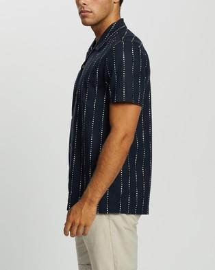 AERE Nachi Resort SS Shirt - Casual shirts (Indigo)