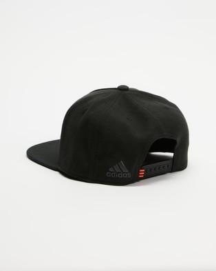adidas Performance - All Blacks Flat Cap - Headwear (Black) All Blacks Flat Cap