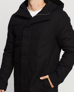 Assembly Label Padded Frontier Canvas Parka - Coats & Jackets (Black)