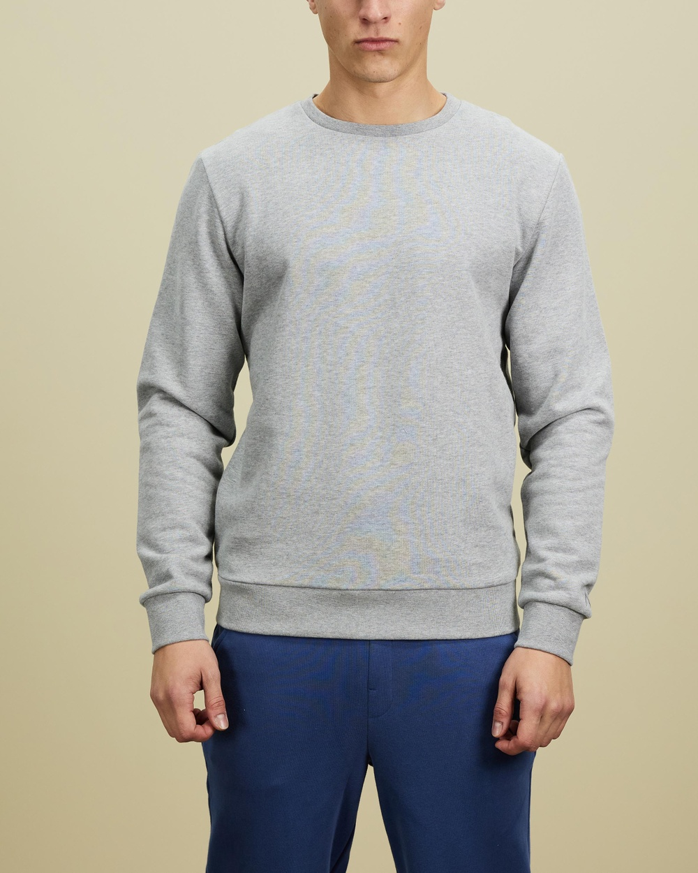 AERE Organic Cotton Crew Sweat Sweats Grey Marle