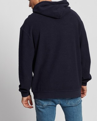 Factorie Reverse Fleece Hoodie - Hoodies (Washed Indigo)