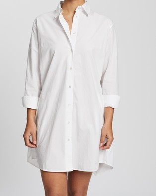 Assembly Label Pira Poplin Shirt Dress - Dresses (White)