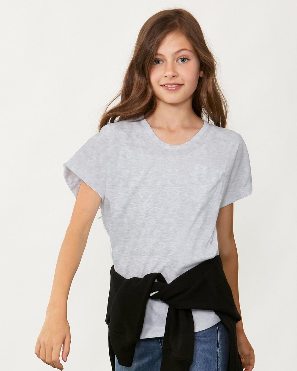 Decjuba Kids - Slouch Tee   Kids Teens - T-Shirts & Singlets (Shadow Grey Marle) Slouch Tee - Kids-Teens