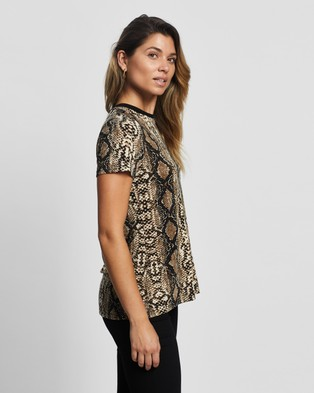 Atmos&Here Stacey Contrast Tee - T-Shirts & Singlets (Snake)
