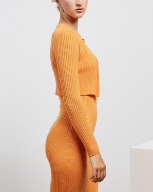 Mcintyre Aida Cardigan - Jumpers & Cardigans (Soft Orange)