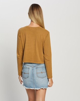 Rusty Wild Child Crop Long Sleeve Tee - Cropped tops (Caramel)