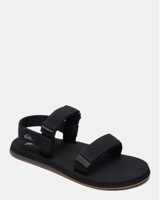 Quiksilver Mens Monkey Caged Sandals - Thongs (BLACK/GREY/BROWN)