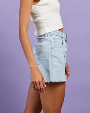 Abrand A Venice Shorts Denim Daisy Blue