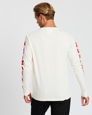 Kent and Curwen Long Sleeve Tee - T-Shirts & Singlets (White)