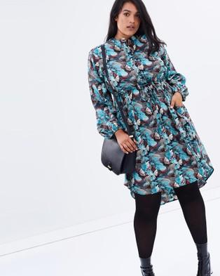 Hope & Harvest – Empire Shirt Dress Winter Fern
