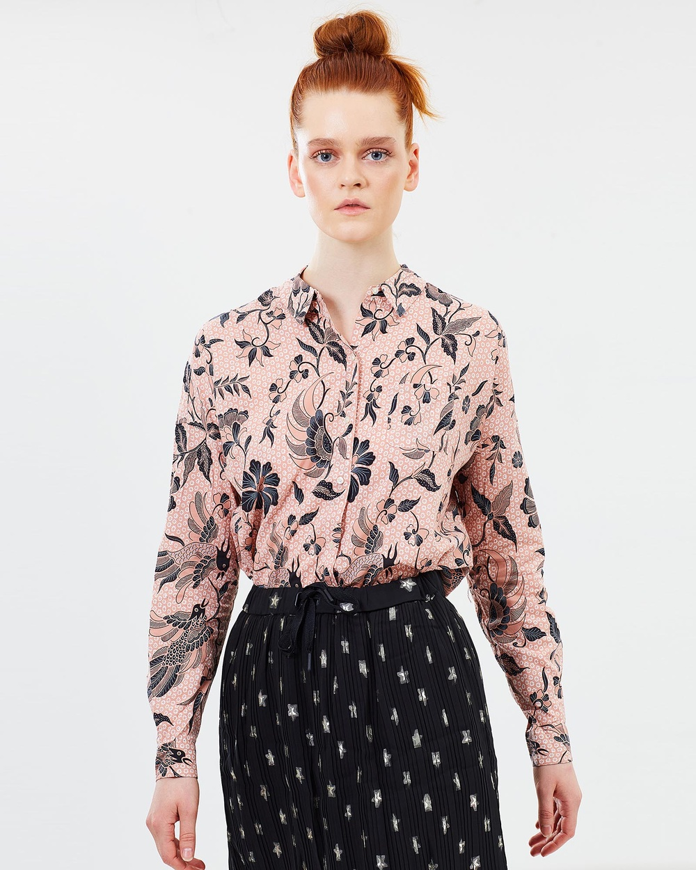 Maison Scotch Printed Shirt Tops Pink Floral Printed Shirt