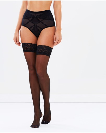 Ann Summers - Lace Top Glossy Hold Up Stockings