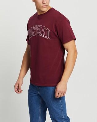 NCAA Raised Wordmark Logo Tee T-Shirts & Singlets Vintage Burgundy