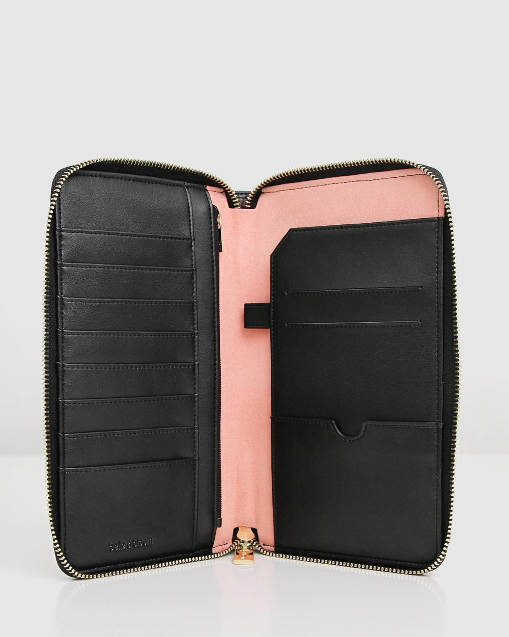 Belle & Bloom Wilona Leather Organiser Wallets Black