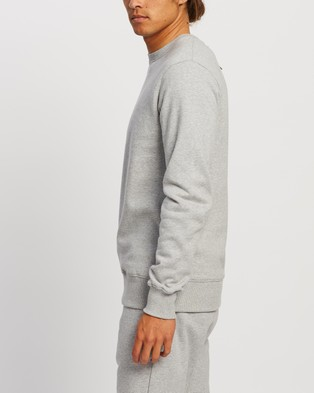 AERE Organic Cotton Crew Sweat - Sweats (Grey Melange)