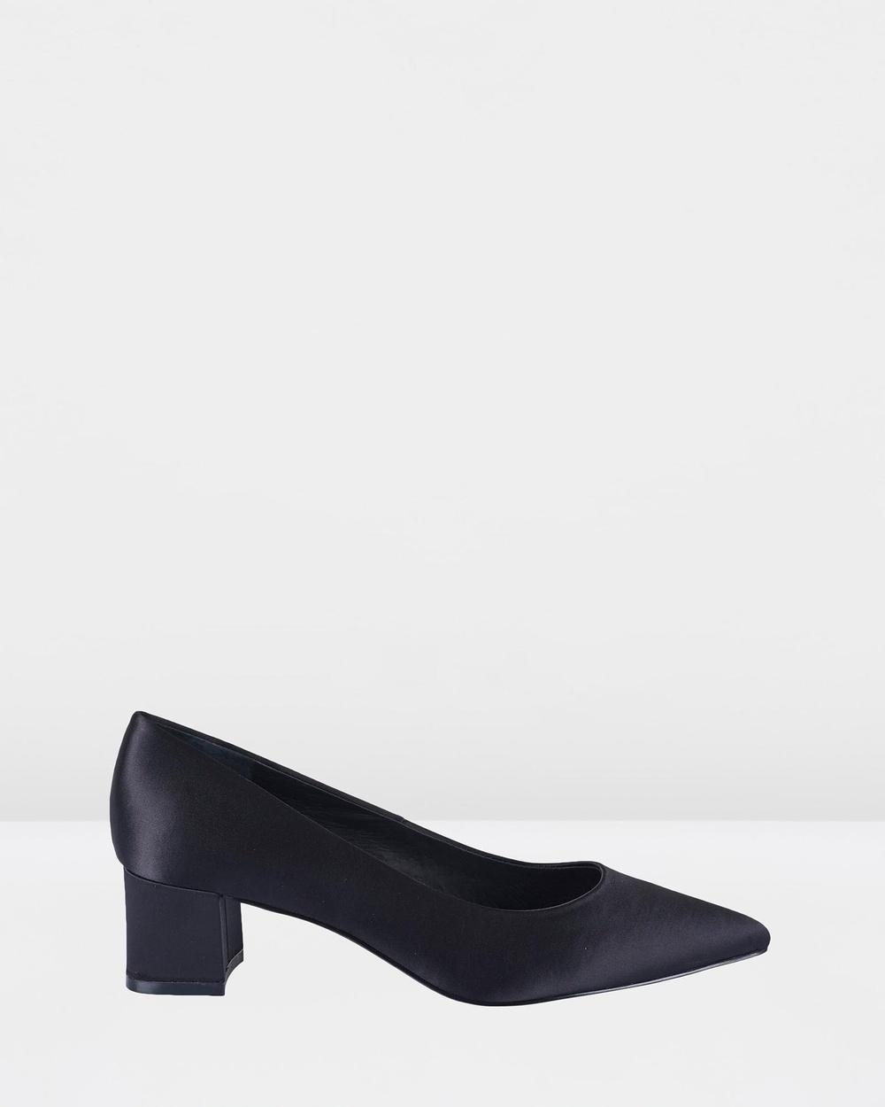 Sol Sana Jade Heels All Pumps Black Satin Jade Heels