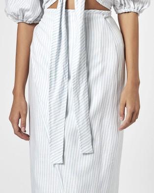 Charlie Holiday Mila Wrap Skirt - Skirts (Beach Stripe)