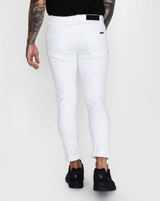 Standard Offset Jeans - Jeans (WHITE)