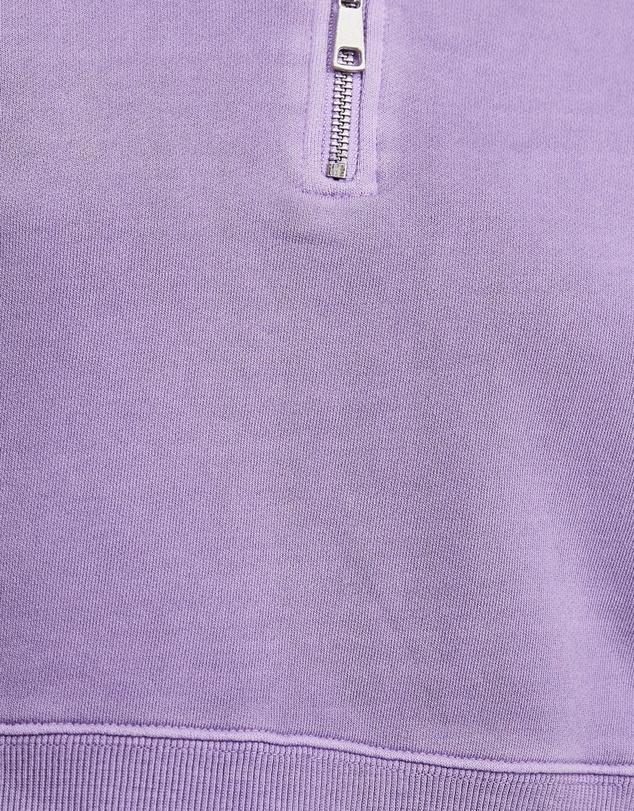 Women Organic Cotton Cropped Quarter Zip