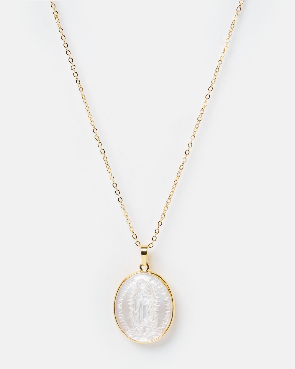Miz Casa and Co Saintly Medallion Coin Necklace Jewellery Gold