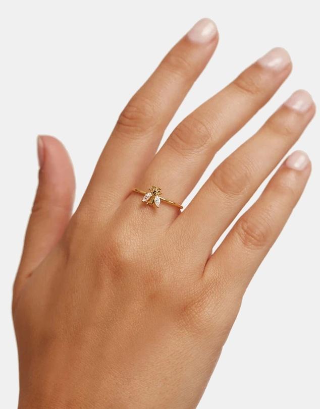 Women Buzz Gold Ring
