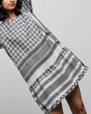 Cecilie Copenhagen Dress 2 O LS Light - Dresses (Black & White)