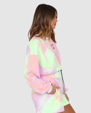 BY.DYLN - Ollie Cropped Sweater Crew Necks (Lilac Tie Dye)
