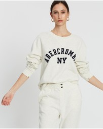 Abercrombie & Fitch - Logo Crew Sweater