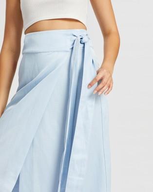 BONDI BORN Universal Wrap Skirt - Skirts (Soft Blue)