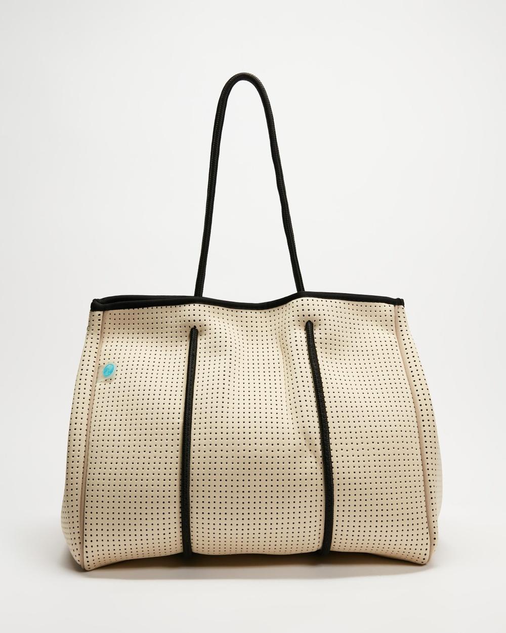 Chuchka Neoprene Tote Bag Bags Taupe