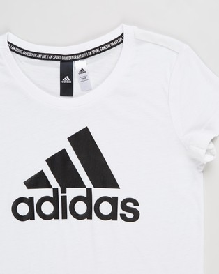 adidas Performance Must Haves Band of Sports Tee   Teens - T-Shirts & Singlets (White & Black)
