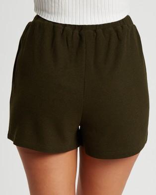 Tussah Cher Shorts - High-Waisted (Khaki)