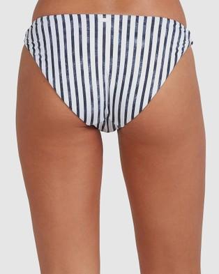 Roxy Womens Printed Beach Classics High Leg Bikini Pant - Bikini Bottoms (NAUTICALI STRIPES MO)