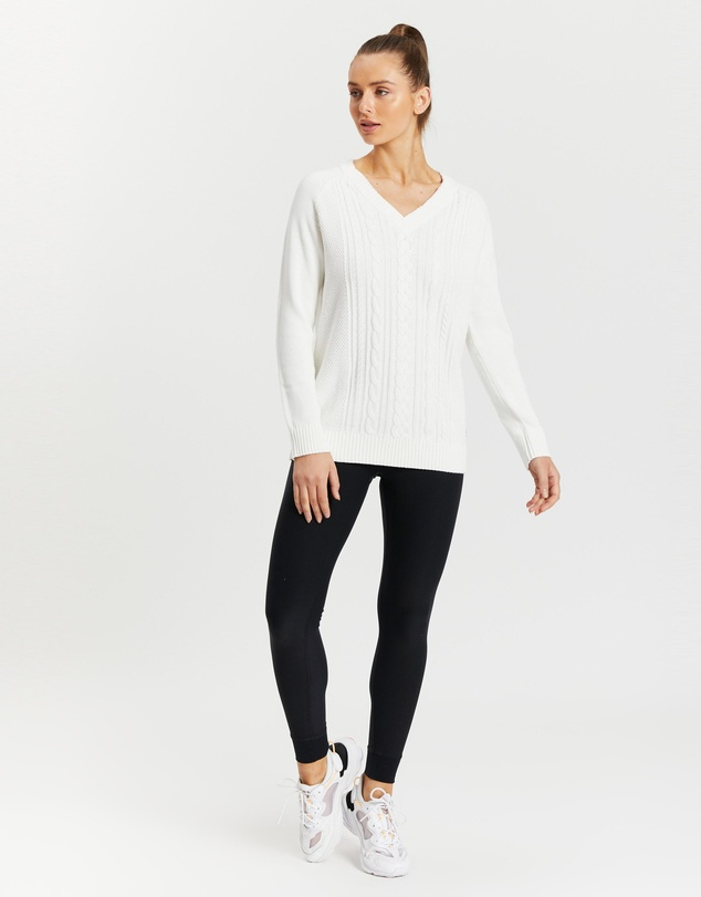 Women Fjord Cable Knit Sweater