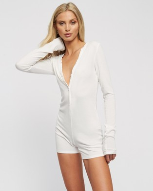 Lioness Angel Romper - Jumpsuits & Playsuits (White)