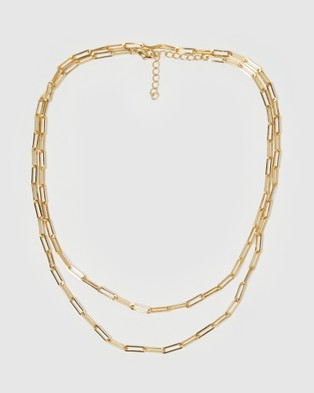Arms Of Eve Valencia Gold Stacking Chain   Large - Jewellery (Gold)