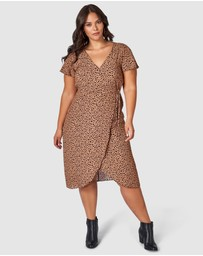 Something 4 Olivia - Eva Printed Wrap Dress