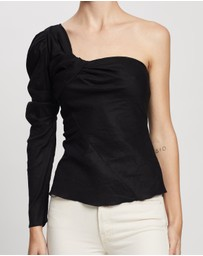 Atmos&Here - Lilly Linen One Shoulder Top