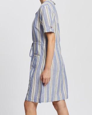 KAJA Clothing Yara Dress - Dresses (Blue Stripe)