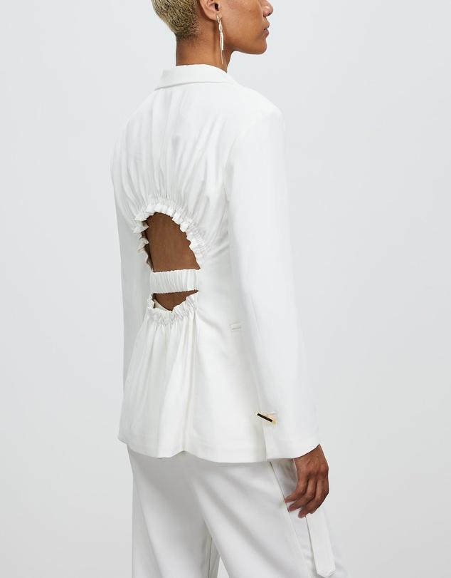 Women Ruched Back Jacket