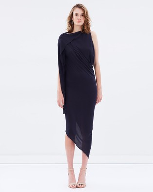 Bianca Spender – Midnight Jersey Origami Dress Midnight