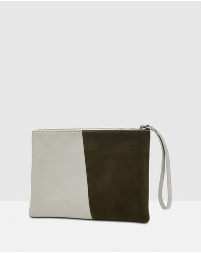 Oxford - Pip Leather and Suede Clutch