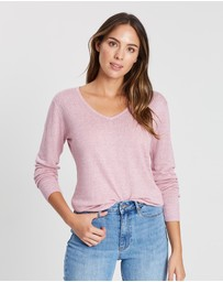 Relaxed V-Neck Knit