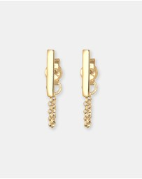 Elli Jewelry -  Earrings Chain Geo Basic Trend 925 Silver Gold Plated