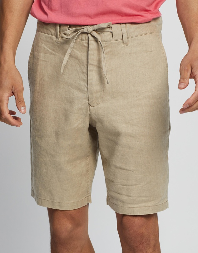 Gant - D2. Relaxed Linen Drawstring Shorts