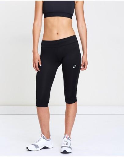 Asics Silver Knee Tights Performance Black