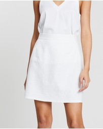 Dazie - Harlow Linen Blend Mini Skirt