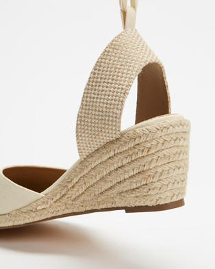 SPURR Ingrid Wedges - Wedges (Natural Canvas)